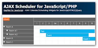 javascript tutorial demo scheduler for javascript php tutorial daypilot news html5