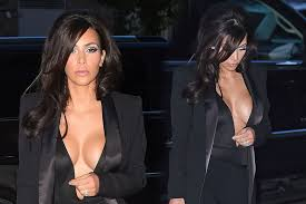 braless kim kardashian|Kim Kardashian goes braless in a Lanvin sheet-dress: trashy or sexy?