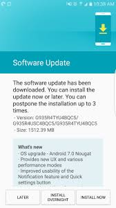 how to upgrade android os cellular starts pushing android 7 0 nougat for the samsung galaxy