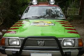 wagon turned into jurassic park car