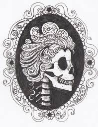 skull cameo tattoo design by sanguineasperso on deviantart