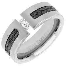 mens engagement rings mens diamond wedding band in titanium 8mm