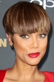 short hairstyles your a list inspiration bowl cut tyra bank