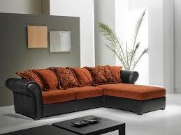 canapé d angle orange canape d angle nepal tissu orange et cuir noir