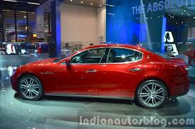 red maserati sedan 2016 maserati ghibli side at the iaa 2015 indian autos blog
