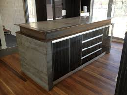 kitchen concrete kitchen island within elegant design a concrete
