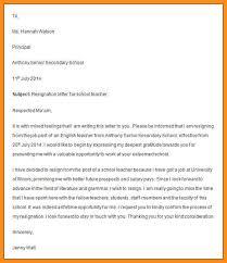 3 teacher resignation letter sample nurse homedsample teaching