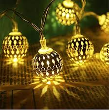 Amazon Fairy Decorative String Lights 20 LED Plug in Hollow