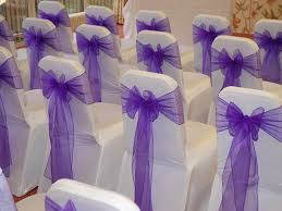 sashes for chairs purple organza sashes s party rental
