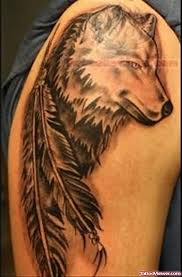 Wolf Indian Tattoos - grey ink wolf viewer com