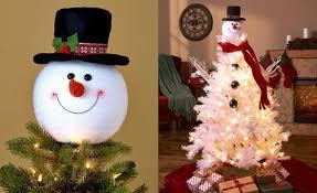 Amazon Com Holiday Wonderland 100 by Amazon Com Frosty Snowman Top Hat Christmas Tree Topper Decor