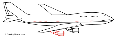 how to draw a plane tutorial