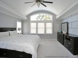 Feature Walls In Bedrooms Rolled Vaulted Ceiling With Accent Uplighting And A Custom Painted
