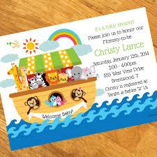 Noah S Ark Decorations Noah U0027s Ark Baby Shower Personalized Invitations At Dollar Carousel