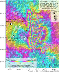 Italy Earthquake Map by The October 2016 Central Italy Earthquake Crustal Deformation