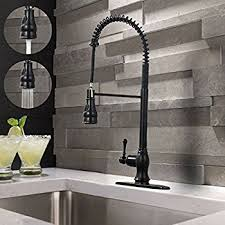 Modern Single Lever Single Handle Solid Brass Pull Down Sprayer - Bronze kitchen sink faucets
