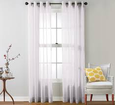 amazon com hlc me 2 piece sheer voile window curtain grommet