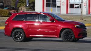 trackhawk jeep cherokee jeep grand cherokee trackhawk u0027s monster motor spied