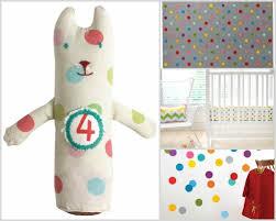 Polka Dot Curtains Nursery Nursery Decorating Idea With Polka Dots