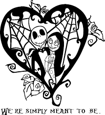 nightmare before christmas coloring pages nightmare before christmas jack and sally heart vinyl decal