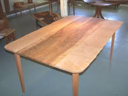 hand crafted u201clive edge u201d birdseye maple dining table by rockledge