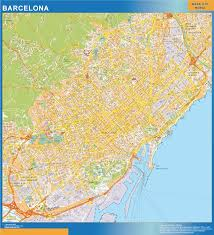 Usa Wall Map by Barcelona Wall Map Netmaps Usa Wall Maps Shop Online