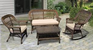 Wicker Settee Replacement Cushions Mackinac Out Wicker Settee Double Glider Nc369g2 Jaetees