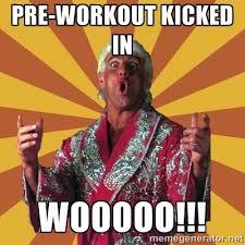 Preworkout Meme - ric flair meme pre workout google search workout gym humor