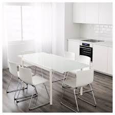 Glass White Desk by Glivarp Extendable Table Ikea