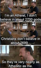 Funny Anti Christian Memes - sooo lucky that your god is the real god pinteres