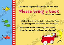 bring a book baby shower novel concept designs one fish two fish new fish dr suess