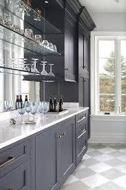 where to buy glass shelves for kitchen cabinets blue bar cabinets with floating glass shelves transitional