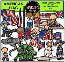 American Flag To Color American Flag Clip Art Bundle Color And B U0026w Welcome To