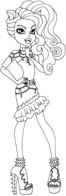 High Characters Coloring Pages Monster High Colouring Pages Clawdeen Paint Fun Pinterest by High Characters Coloring Pages