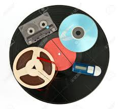 Storage Devices by Music Storage Devices From Past To Nowadays Stock Photo Picture
