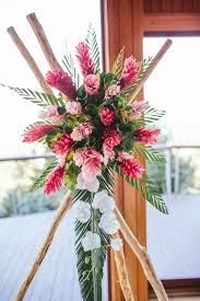 tropical flower arrangements wedding flowers beach wedding