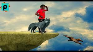onlin new style picsart editing wolf horror photo editz picsart