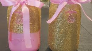 Pink And Brown Baby Shower Decorations Pink And Gold Baby Shower Centerpieces Youtube