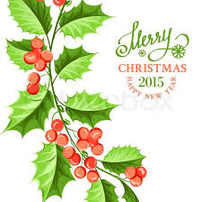 christmas mistletoe christmas mistletoe branch drawing with text vector