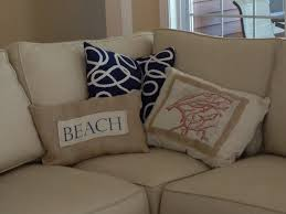 Cheap Beach Decor For Home Two It Yourself Diy Beach Throw Pillows On The Cheap And Easy