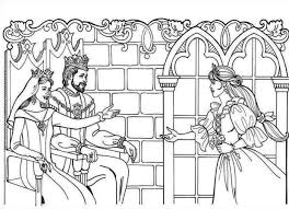 king and queen coloring pages family story between king