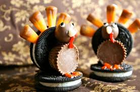 foodista oreo turkeys are an adorable thanksgiving decoration