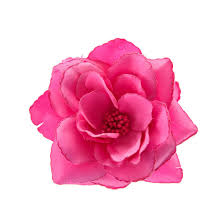 flower clip large hot pink flower hair clip s