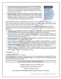 financial resume exles nominated executive resume sle finance elizabeth