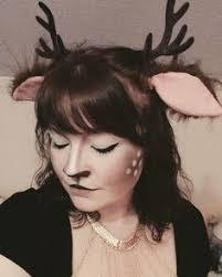 Deer Antlers Halloween Costume Antler Headband Coachella Gold Faux Bone Head Piece Gold Antlers