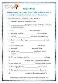grade 3 grammar topic 17 prepositions worksheets lets share