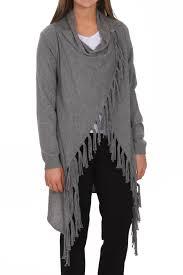 black fringe sweater linea domani grey fringe sweater from iowa by shabby chic llc