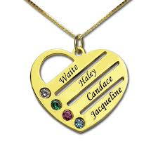 Customized Birthstone Necklace Online Get Cheap Engraved Birthstone Jewelry Aliexpress Com