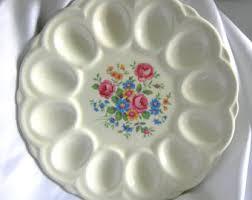 white deviled egg plate american artware etsy