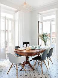 antique table with modern chairs scandinavian dark wood and white dining table vintage white and dark